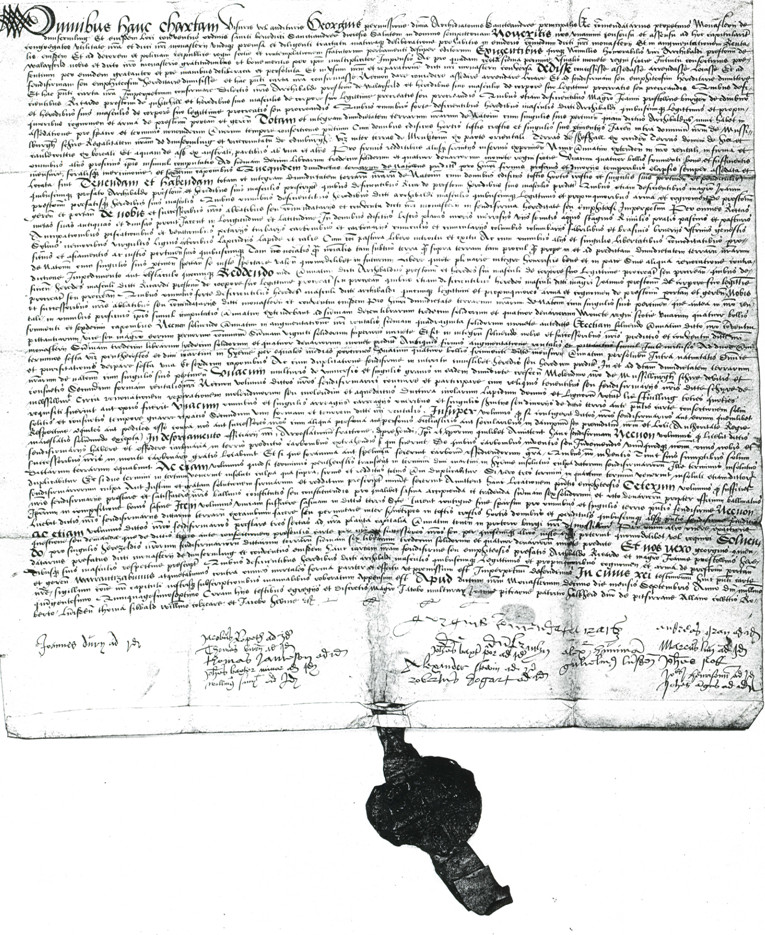 A unique monastic charter